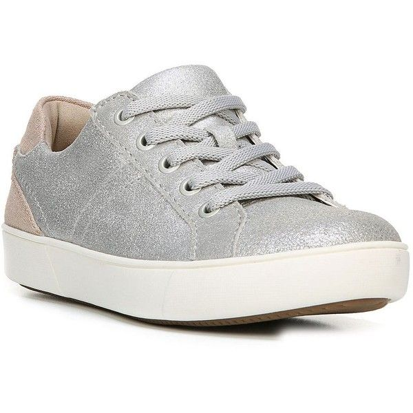 Naturalizer Women's Morrison Metallic Lace-Up Sneakers ($89) ❤ liked on  Polyvore featuring