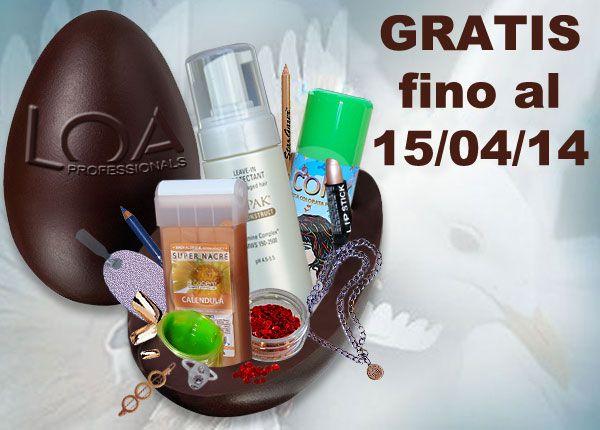 Per ordini completati entro il 15/04/14 il magazzino inserirà GRATIS un prodotto della stessa categoria dell'ordine. http://www.loacenter.com/scegli-il-regalo/con-altro/prodotto-a-sorpresa.html