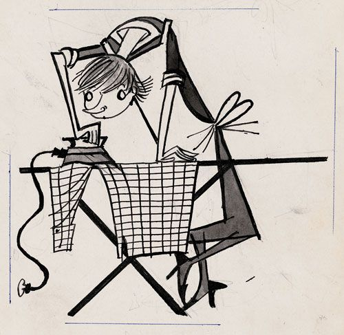 By one of my favourite illustrators, Fiep Westendorp. Newspaper 'Het Parool' - article 'What kind of housewife are you?', 1959