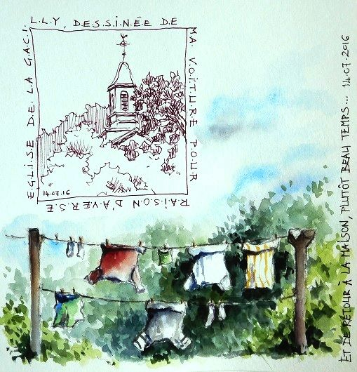 BB-Aquarelle: Averses et soleil / In between showers and sun