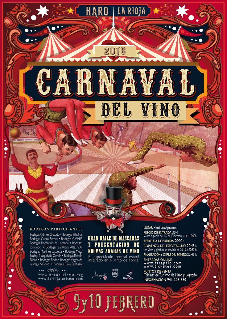 Pasen y vean el mayor espectáculo del vino!!  Carnaval del Vino 2018 ya está aquí.