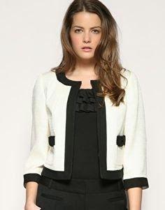 Patrón gratis: chaqueta tipo Chanel http://www.yoelijocoser.com/2015/01/patron-gratis-chaqueta-tipo-chanel.html