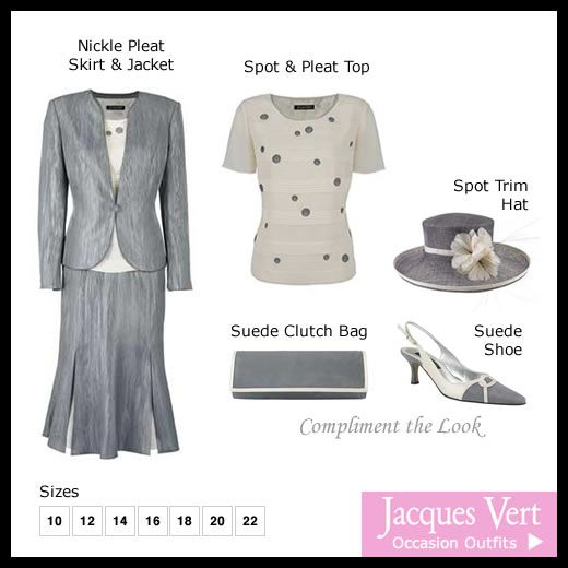 gray skirt outfits | Winter/Autumn Mother of the Bride Outfit Jacques Vert