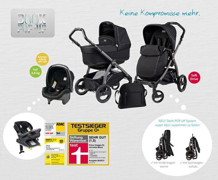 Der neue Kombikinderwagen Peg Perego Book Pop-Up - Dank POP-Up System super klein zu falten, sogar mit Babywanne oder mit Sportwagenaufsatz | online kaufen bei kids-comfort.de #kinderwagen #buggy #kombikinderwagen #babyschale #wickeltasche #stroller #babycarseat #diaperbag #italiandesign #stylish #frombirth #maternity