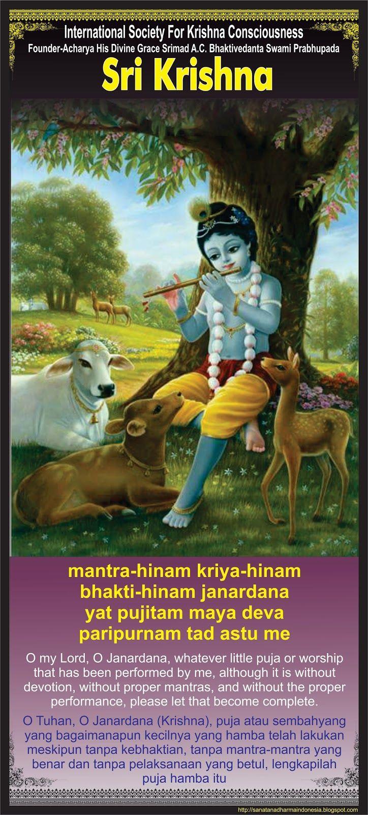 "Sanatana Dharma Indonesia: ""Doa Permintaan Maaf Pada Sri Krishna (Lanjutan)"""