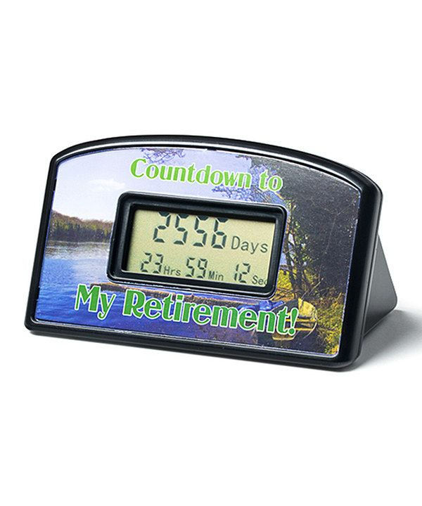 Look at this Retirement Countdown Timer on #zulily today!
