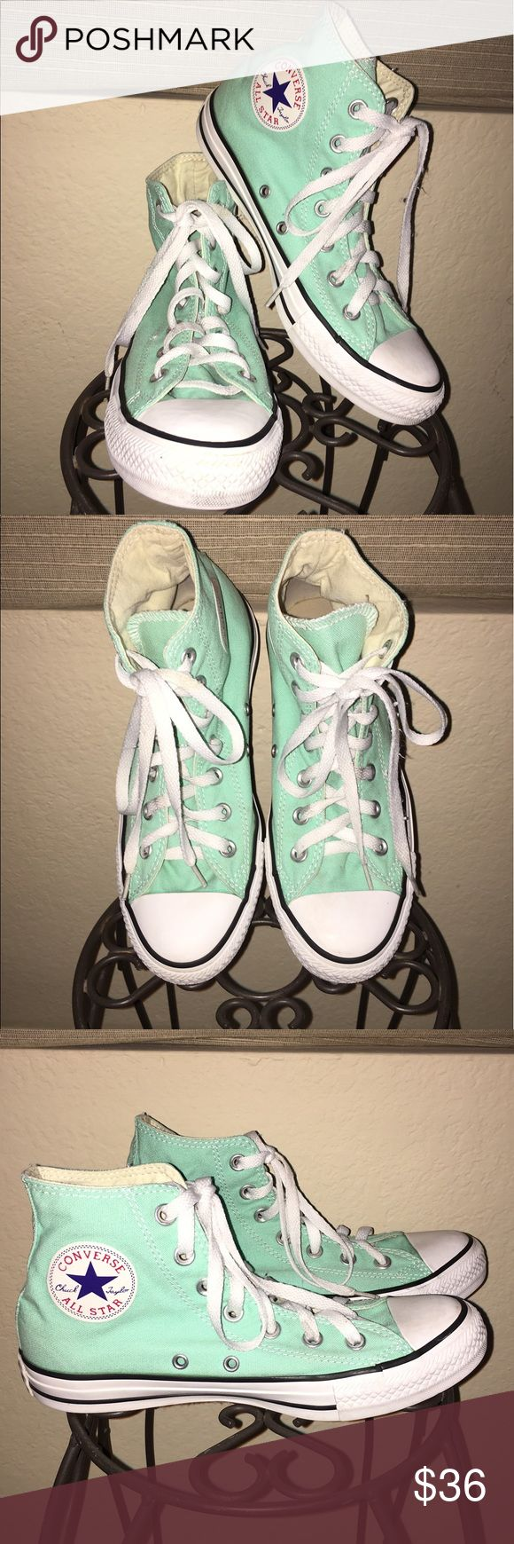 Converse High Tops FLAWLESS Mint Green Converse High Tops  Women's Size 8  Men's Size 6   NO FLAWS Converse Shoes Sneakers
