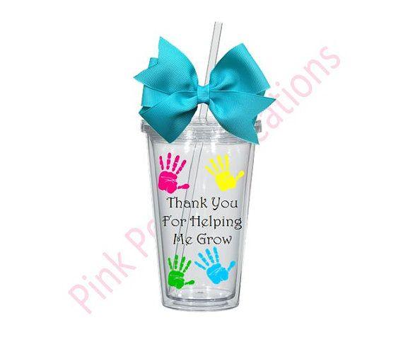 Enseignante préscolaire cadeau enseignante par PinkPoodleCreations