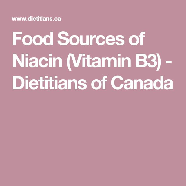 Food Sources of Niacin (Vitamin B3) - Dietitians of Canada