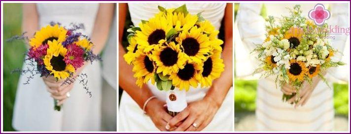 Sárga menyasszonyi csokor - tanácsot választott, amit a színek alkotják fotó
