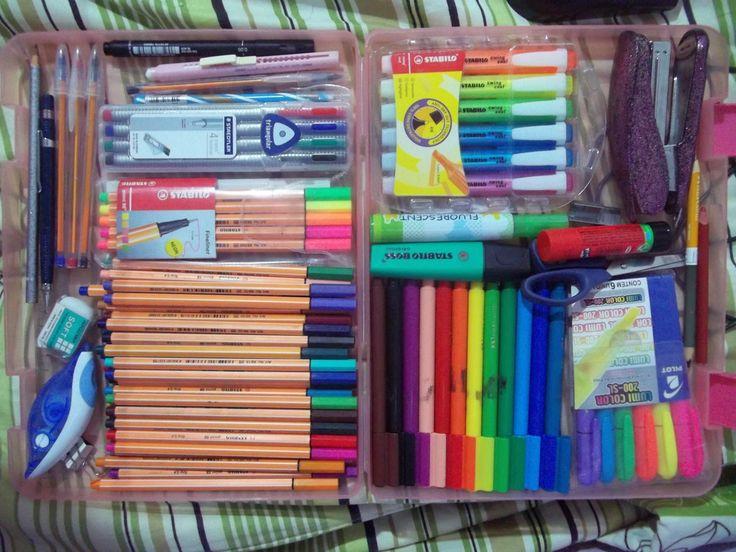 Minhas canetas.