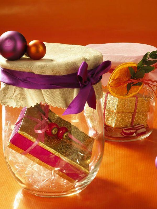 geschenke verpacken originelle ideen marmeladengl ser weihnachten pinterest gl ser. Black Bedroom Furniture Sets. Home Design Ideas
