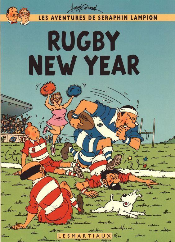 Les Aventures de Tintin - Album Imaginaire - Rugby New Year
