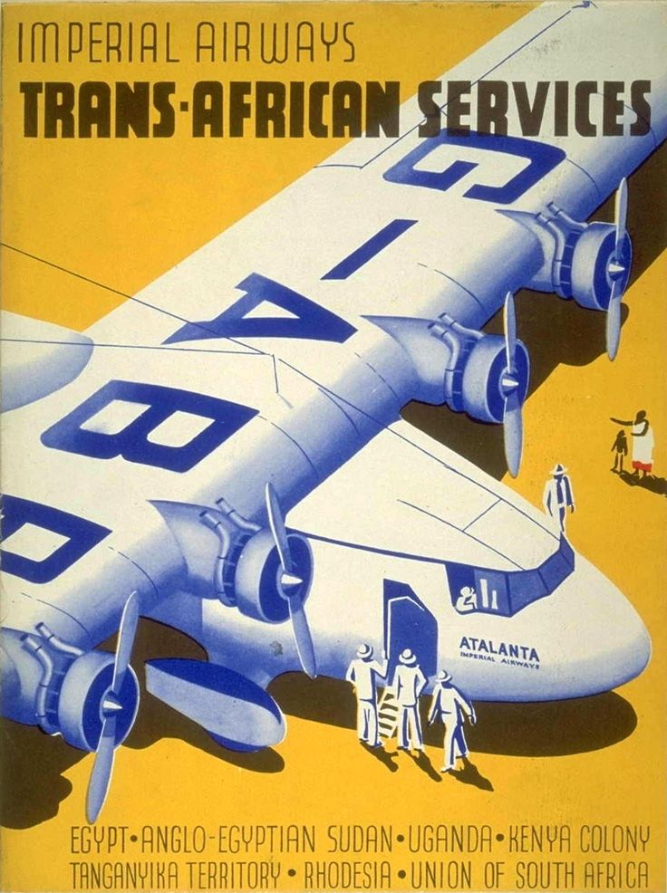 G-ABPI Armstrong Whitworth AW15 Atalanta ~ Imperial Airways ~ Trans-African Services - Printer: Ben Johnson & Co., Ltd., London & New York. July 1932.