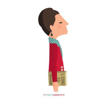Simone de Beauvoir.: No se nace mujer, se llega a serlo.   Simone de Beauvoir.
