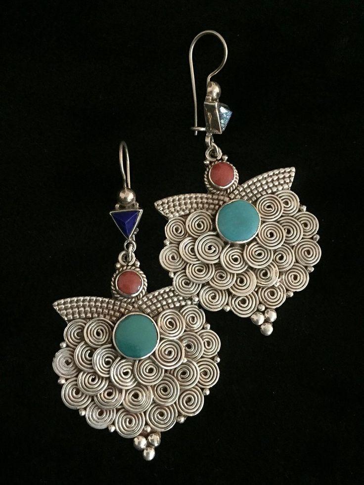 Original Nepali Silver Earrings
