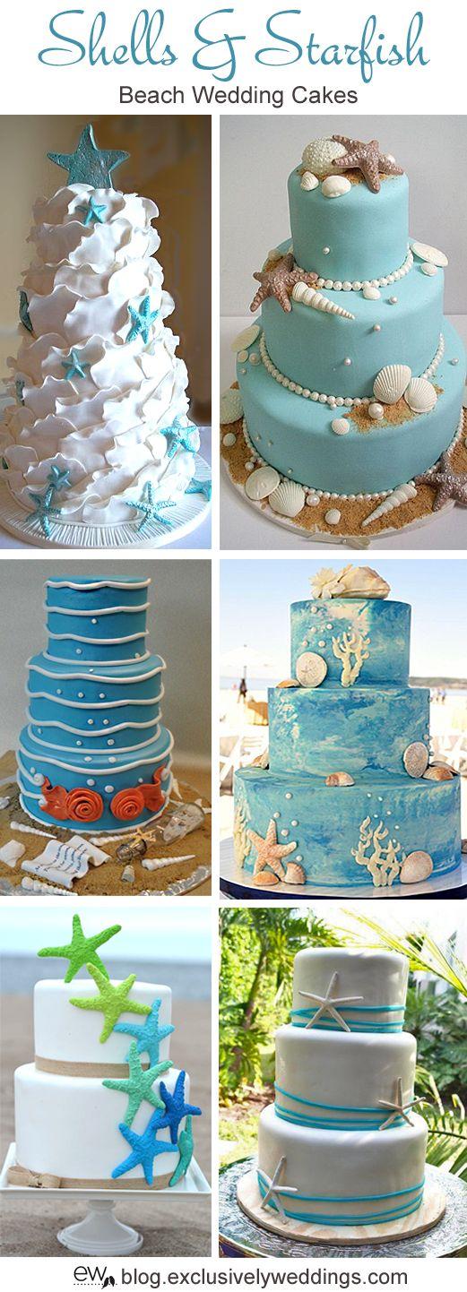 Shells_and_Starfish_Beach_Wedding_Cake