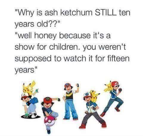 The reason Ash Ketchum isn't aging