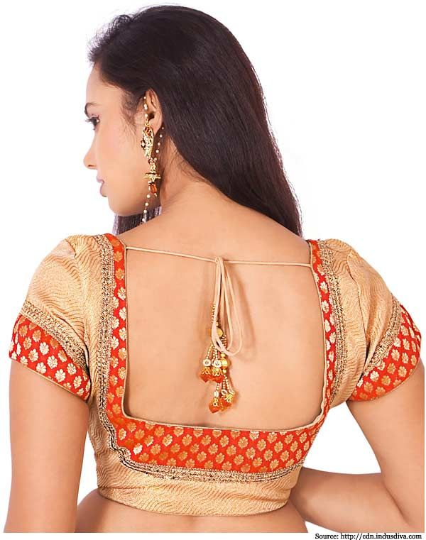 7 Banarasi Designer Blouses Designs | Banarasi Silk Saree, Back Design