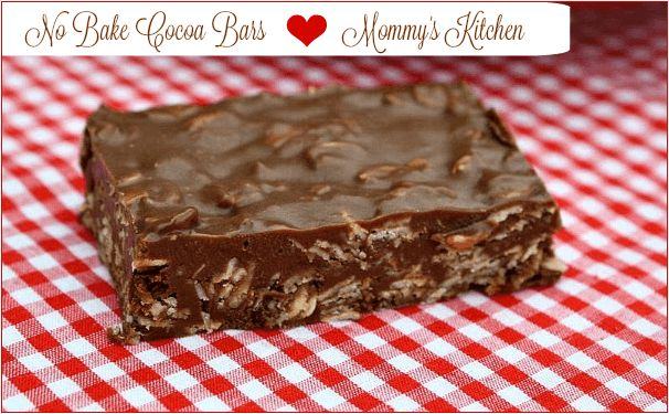 Sweet As Candy No Bake Cocoa Bars! – The Baking Bit