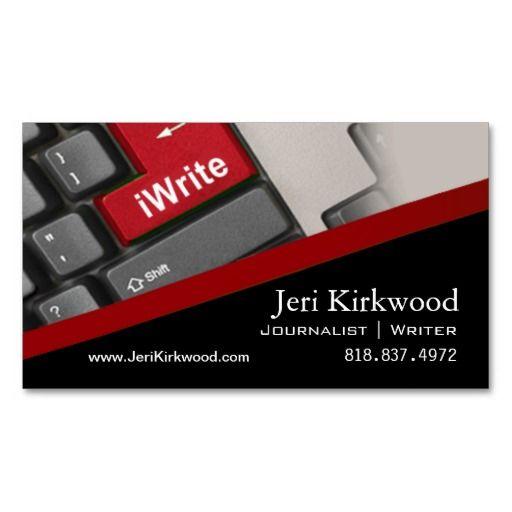 author business card