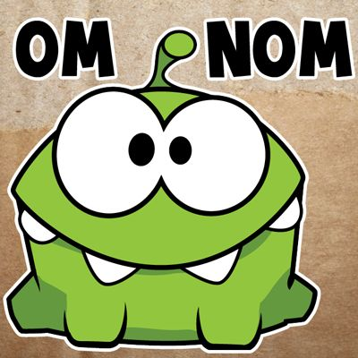 How to Draw Om Nom from the Cut The Rope game with Easy