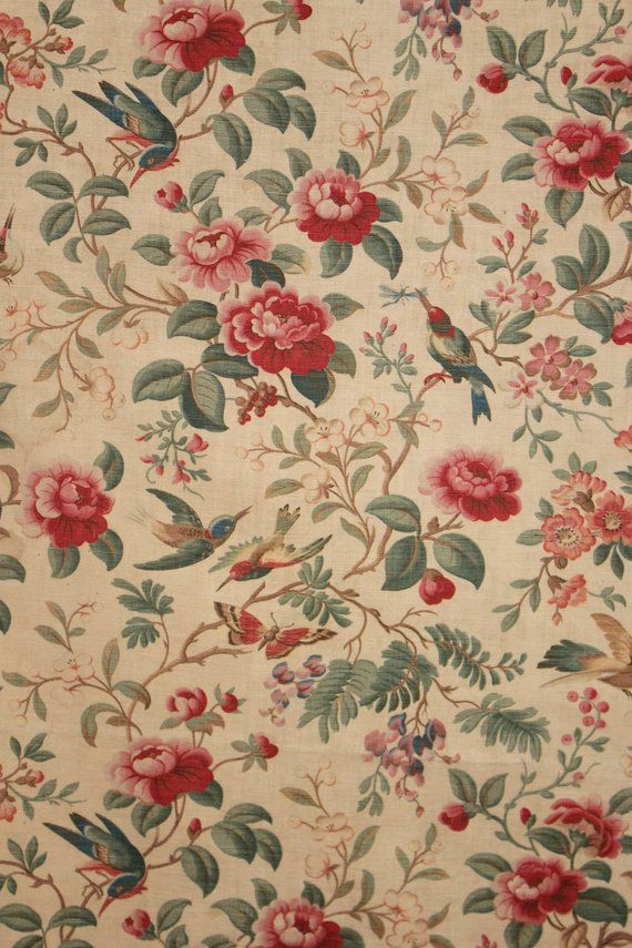 Afterglow Twilight Waverly Vintage Floral Fabric Perfect For