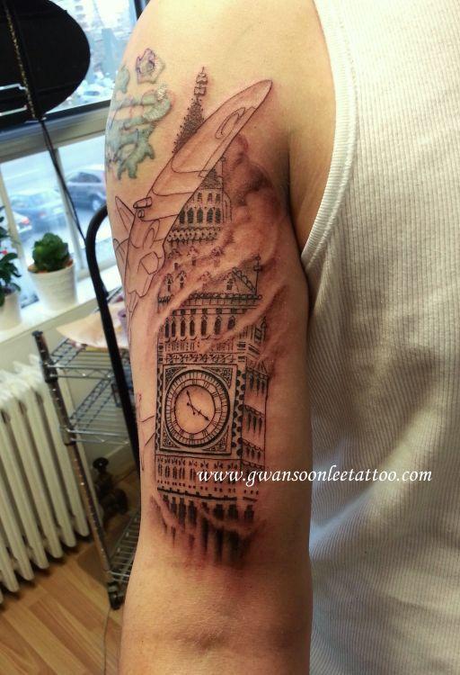 Big Ben clock tattoo on arm | Gwan Soon Lee Tattoos ...