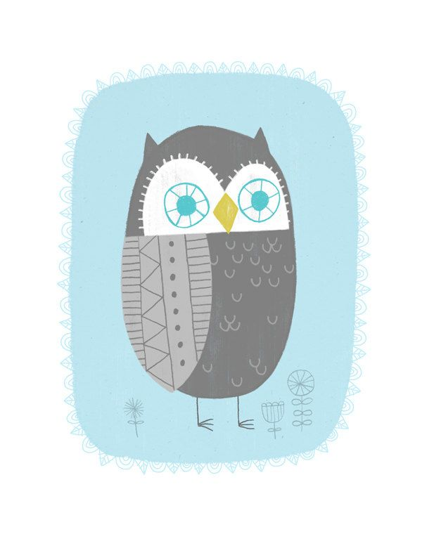 Rinaldo the Owl by Colin Walsh. via Etsy