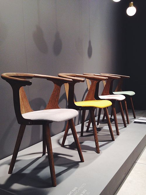 In Between chairs by Sami Kallio with an upholstered seat. By &Tradition.