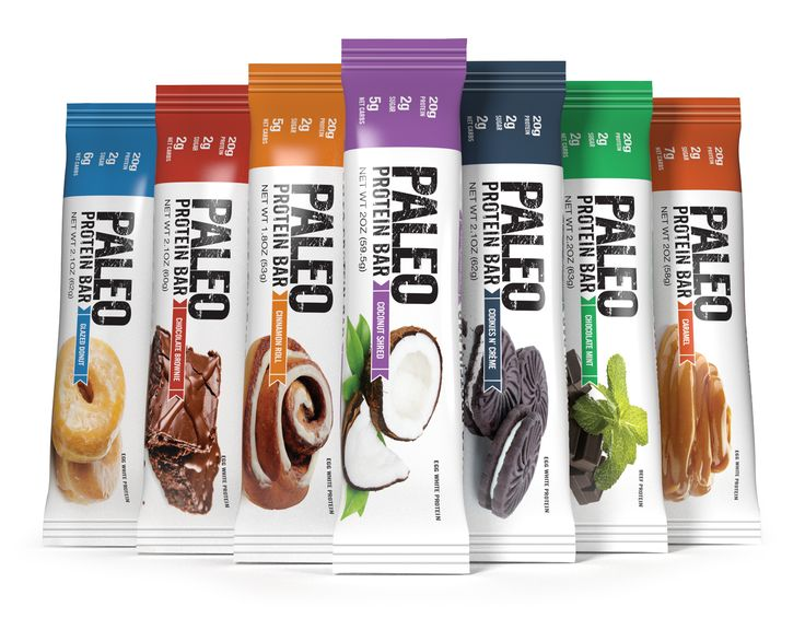 Paleo Protein Bars™ have 20g Protein (Egg Whites), Low Carb, Gluten Free, No Added Sugar (2g), GMO-Free, Grain Free, Dairy Free, Soy Free, No Sugar Alcohols, Whey Free, Legume Free, & Monk Fruit Sweetened. (Under 200 Calories) (Curbs Appetite Up to 4 hrs) (100% Paleo)! (6 Amazing Flavors) (From 2 Net Carbs) (Taste & Texture Like A Tootsie Roll) Get FREE Shipping! http://www.julianbakery.com/paleo-protein-bars