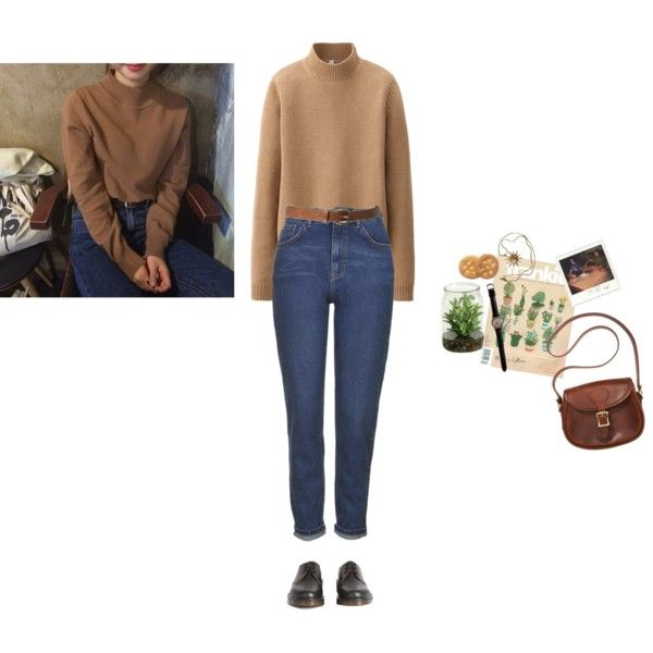 Winter by ihatepe0ple on Polyvore featuring Uniqlo, Topshop, Dr. Martens, J.W. Hulme Co., Anne Klein and ASOS