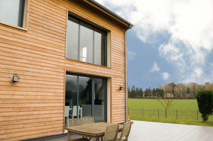Ultra design, ultra tendance, ultra fonctionnelle ! Cette superbe maison bardée bois d'environ 200 m2 ne vous laissera pas indifférent. montfort l'amaury  maison  design   décoration bois  tendance  à vendre 545 000 € FAI