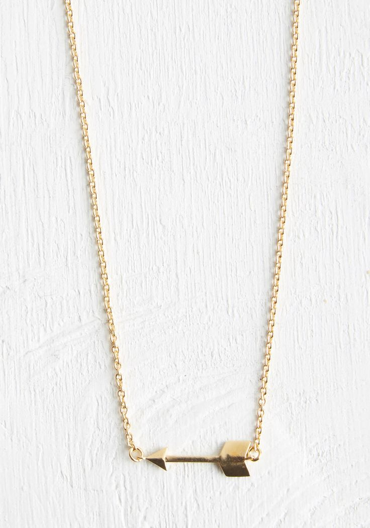 On-Target Style Necklace. #gold #modcloth