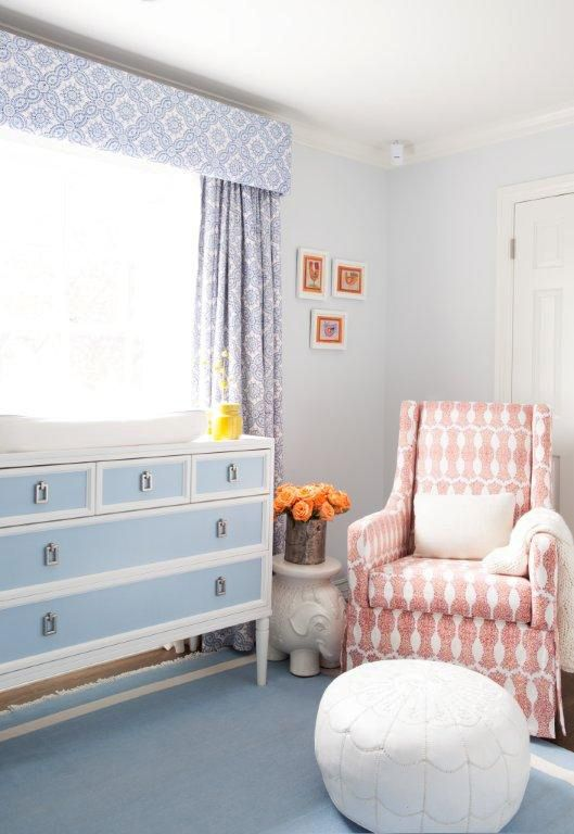 We Spy A Serena Lily Pouf In Molly Sims Nursery Serenaandlilystyle