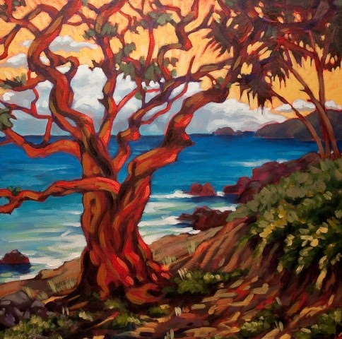 The Tremonte Tree, by Angela Bandurka. 24x24-inches, acrylic on canvas.