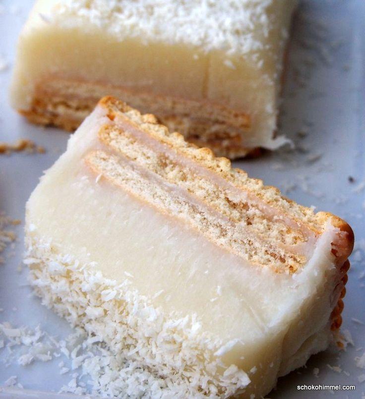 Kalter Kokos-Hund mit weißer Schokolade... ein Kuchen für Tinas White Dinner. Süß, fettig, lecker! :-)