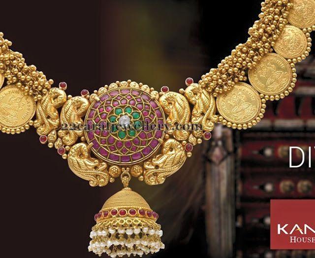 Jewellery Designs: Jhumka Pendant Ethnic Necklace