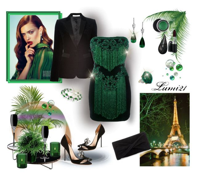 party by lumi-21 on Polyvore featuring Balmain, Givenchy, Kurt Geiger, Reiss, Bling Jewelry, Estée Lauder, MAC Cosmetics, La Prairie, Modloft and Muuto