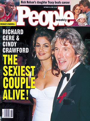 1993 - No Sexiest Man Alive picked this year! They put The Sexiest Couple - Richard Gere and Cindy Crawford on the cover.  1994 - no Sexiest man alive chosen!