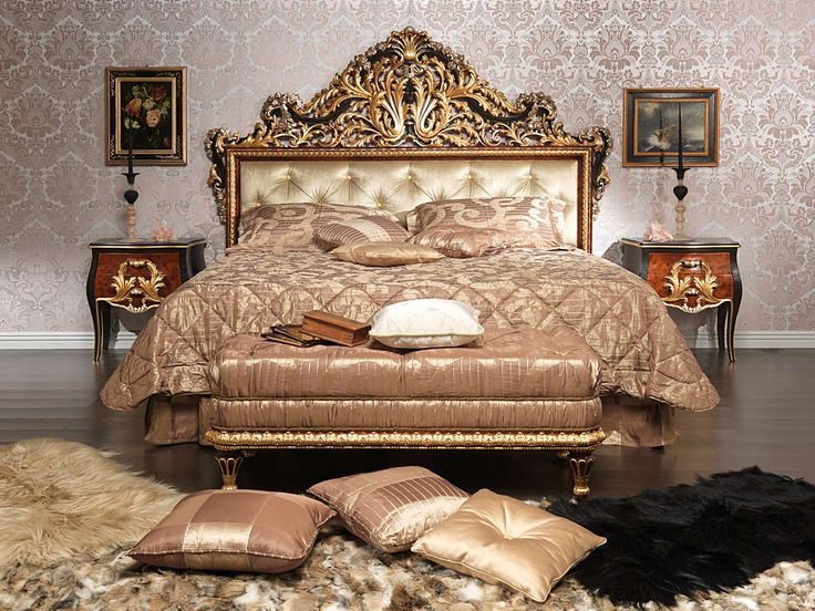 antique hand carved bedroom furniture wood sets deluxe classic luxury baroque style