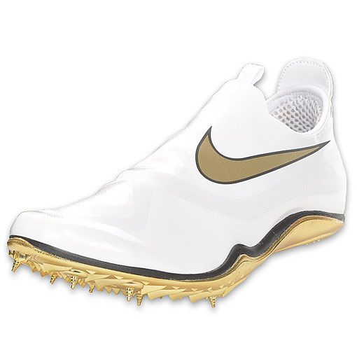 white and gold track spikes cheap online