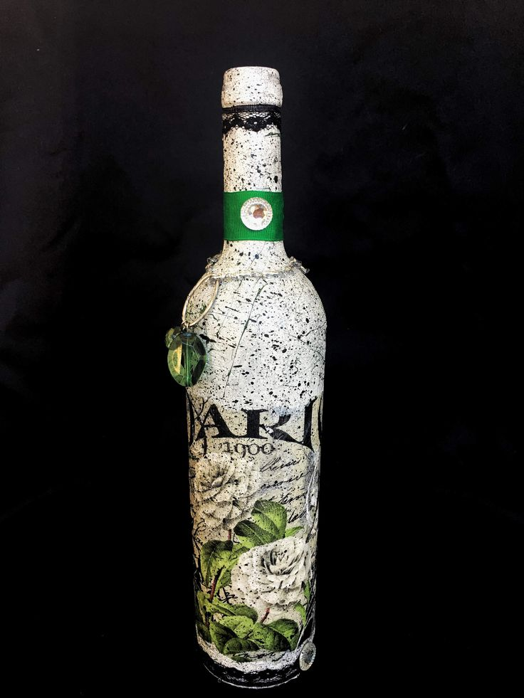 51 best decorated wine bottles decoupage bottles coffee for Unique glass bottles