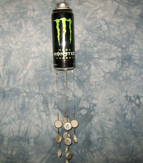 Monster Energy Drink Can Windchimes Suncatchers Chimes