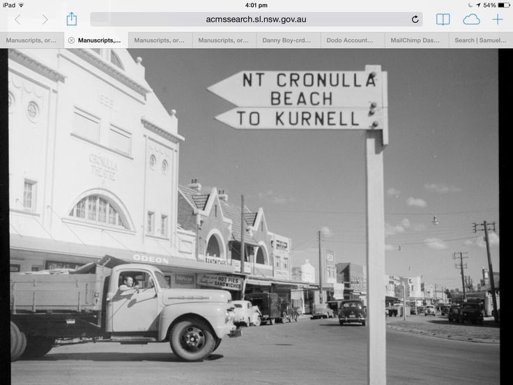 Cronulla St circa 1960's looking down what is now the mall.