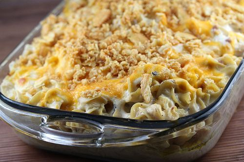 salmon and noodle casserole (with homemade egg noodles)