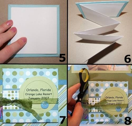 how to make flip tabs for scrapbook