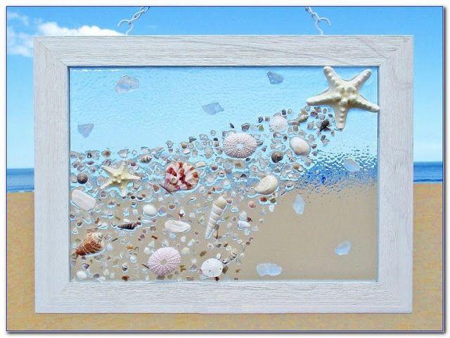 How To Make Sea Glass Window Art Sea Glass Window Art Glass Window Art Broken Glass Art