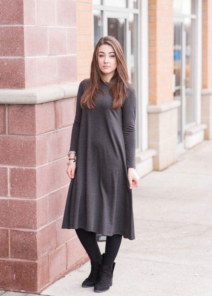 Midi dress, tunic, midi dress with sleeves, Brown, Modest dress, Modest Clothing, by KMWbyKaleidoscope on Etsy https://www.etsy.com/au/listing/500765471/midi-dress-tunic-midi-dress-with-sleeves