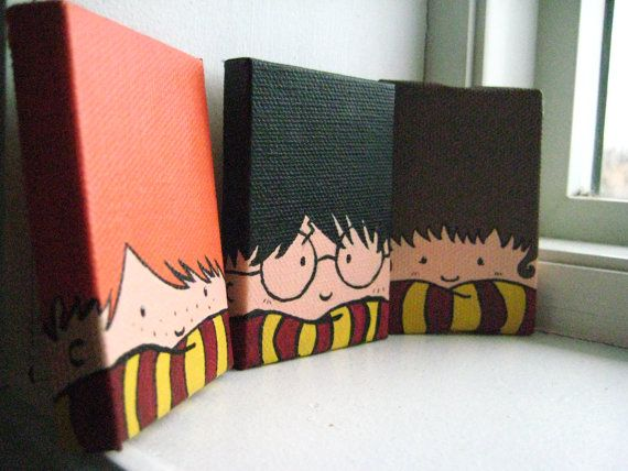 Aimants Trio peintes Harry Potter                                                                                                                                                                                 Plus
